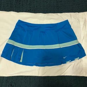 Nike Pleated Tennis Skirt - Blue - Large